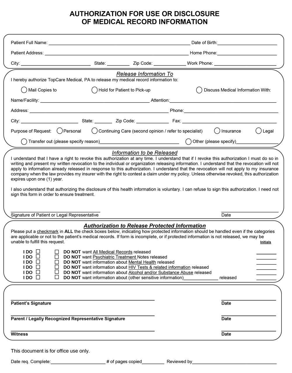 Authorization-form-for-disclosure-of-medical-records-2016